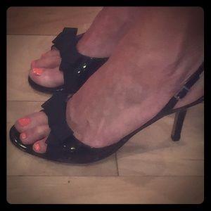 Amalfi  Black Patent leather evening shoes